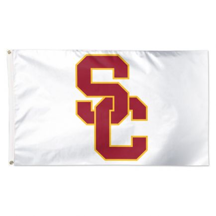 USC Trojans WHITE BACKGROUND Flag - Deluxe 3' X 5'