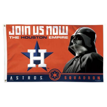 Houston Astros / Star Wars Vader Flag - Deluxe 3' X 5'