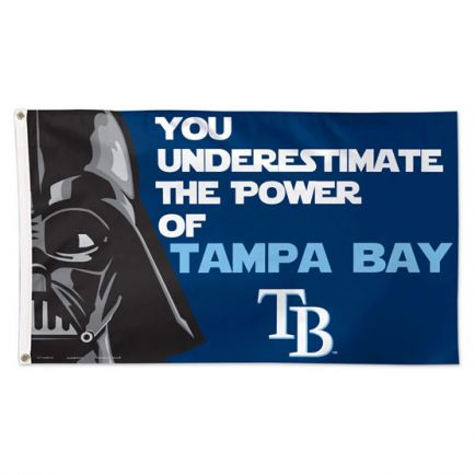 Tampa Bay Rays / Star Wars Darth Vader Flag - Deluxe 3' X 5'