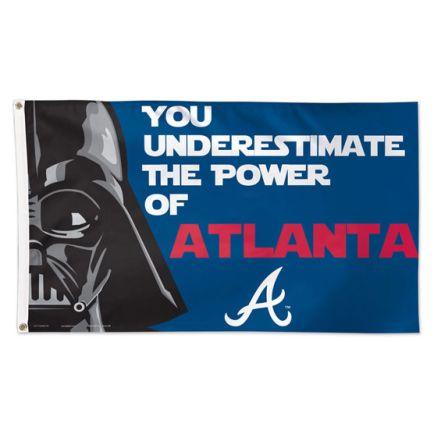 Atlanta Braves / Star Wars Darth Vader Flag - Deluxe 3' X 5'