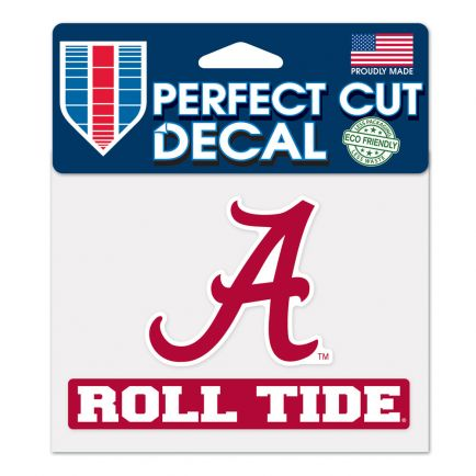 "Alabama Crimson Tide Roll Tide Perfect Cut Color Decal 4.5"" x 5.75"""