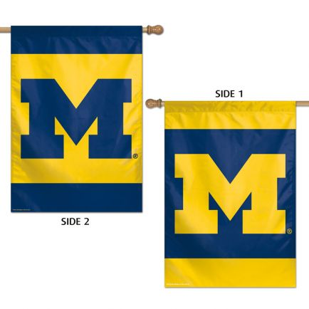 """Michigan Wolverines Vertical Flag 2 Sided 28"""" x 40"""""""