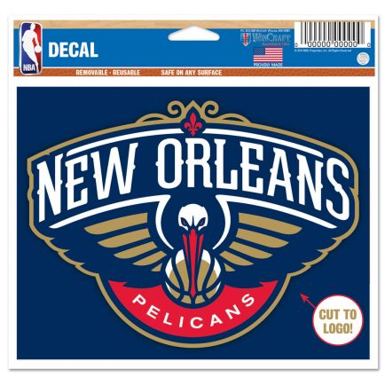 """New Orleans Pelicans Multi-Use Decal - cut to logo 5"""" x 6"""""""