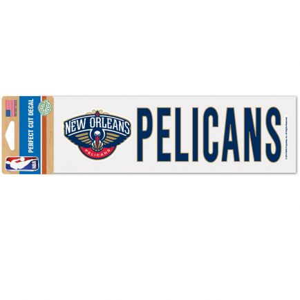 """New Orleans Pelicans Perfect Cut Decals 3"""" x 10"""""""