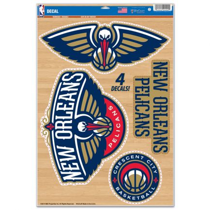 """New Orleans Pelicans Multi-Use Decal 11"""" x 17"""""""