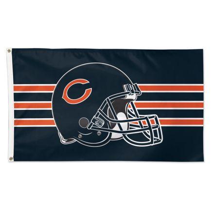 Chicago Bears Helmet Flag - Deluxe 3' X 5'