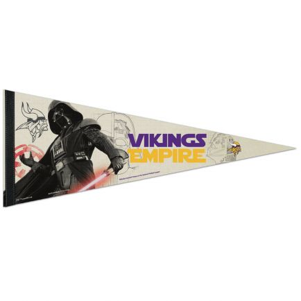 "Minnesota Vikings / Star Wars Vader Premium Pennant 12"" x 30"""