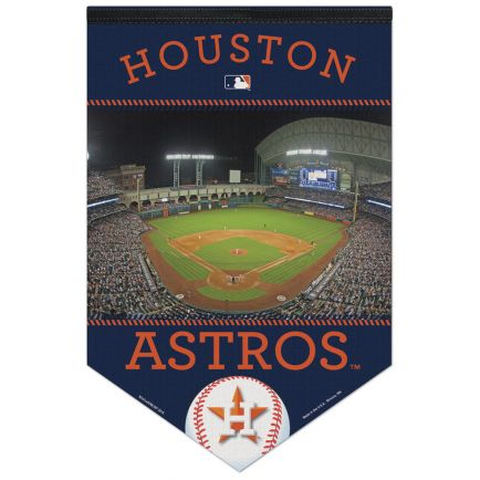 "Houston Astros Stadium MLB Premium Felt Banner 17"" x  26"""