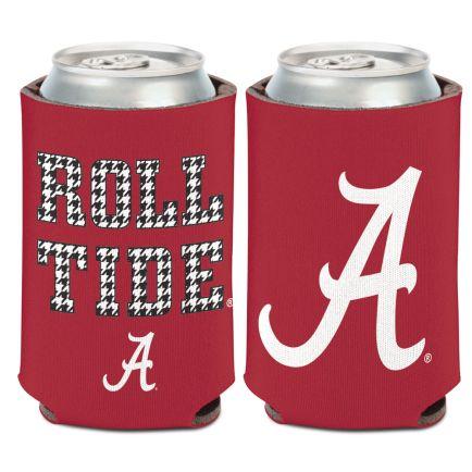 Alabama Crimson Tide /Houndstooth SLOGAN Can Cooler 12 oz.