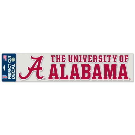 """Alabama Crimson Tide Perfect Cut Decals 4"""" x 17"""""""