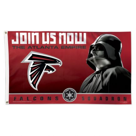 Atlanta Falcons / Star Wars Darth Vader Flag - Deluxe 3' X 5'