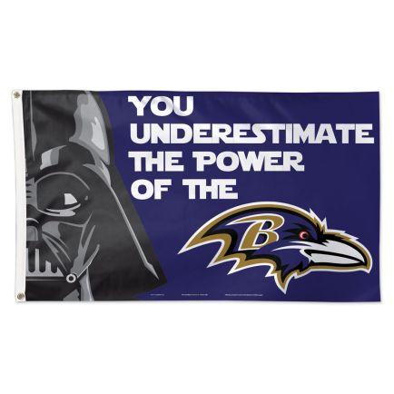 Baltimore Ravens / Star Wars Darth Vader Flag - Deluxe 3' X 5'