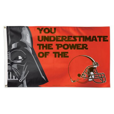 Cleveland Browns / Star Wars Darth Vader Flag - Deluxe 3' X 5'