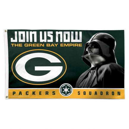 Green Bay Packers / Star Wars Vader Flag - Deluxe 3' X 5'
