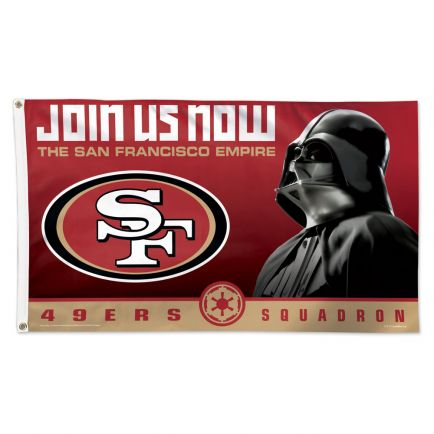 San Francisco 49ers / Star Wars Darth Vader Flag - Deluxe 3' X 5'