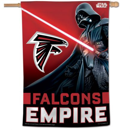 "Atlanta Falcons / Star Wars Darth Vader Vertical Flag 28"" x 40"""