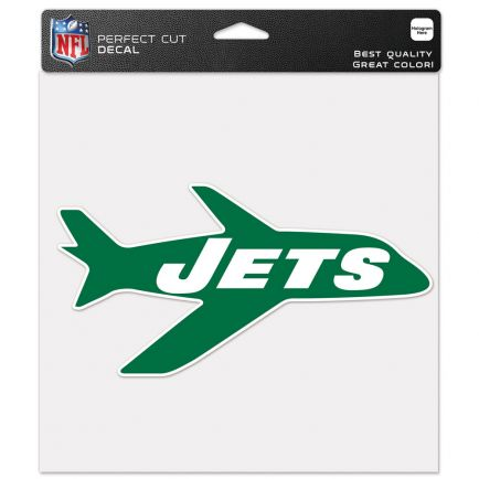 """New York Jets / Classic Logo Retro Perfect Cut Color Decal 8"""" x 8"""""""