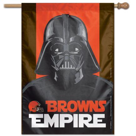 """Cleveland Browns / Star Wars VADER Vertical Flag 28"""" x 40"""""""