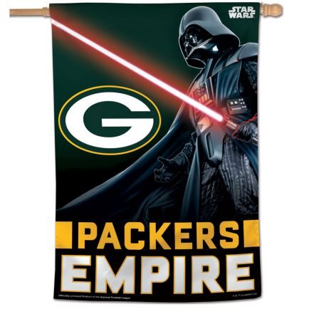 "Green Bay Packers / Star Wars Vader Vertical Flag 28"" x 40"""