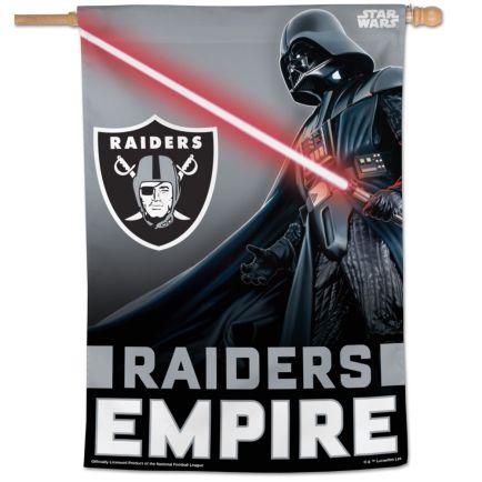 "Las Vegas Raiders / Star Wars Darth Vader Vertical Flag 28"" x 40"""