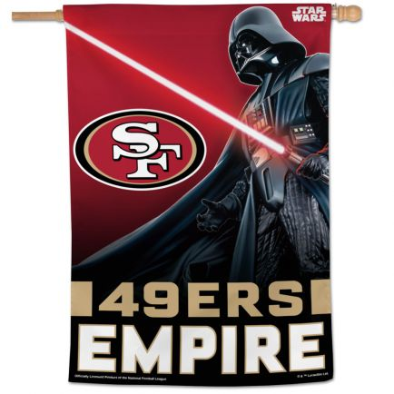 "San Francisco 49ers / Star Wars Darth Vader Vertical Flag 28"" x 40"""