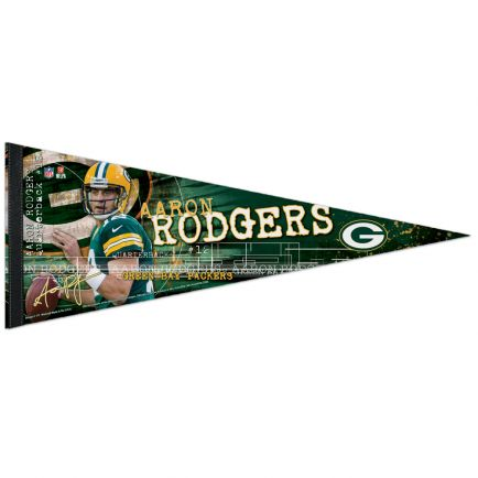 """Green Bay Packers Premium Pennant 12"""" x 30"""" Aaron Rodgers"""