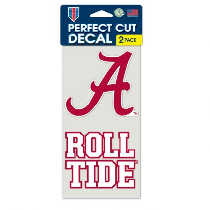 "Alabama Crimson Tide Perfect Cut Decal set of two 4""x4"""