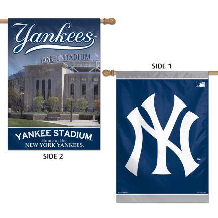 "New York Yankees Vertical Flag 2 Sided 28"" x 40"""