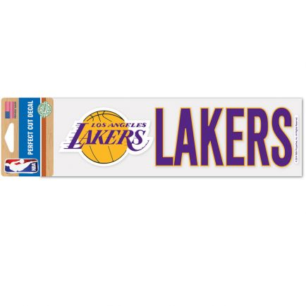 "Los Angeles Lakers Perfect Cut Decals 3"" x 10"""