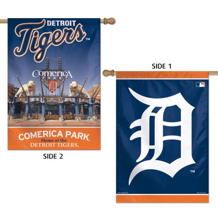 "Detroit Tigers Vertical Flag 2 Sided 28"" x 40"""