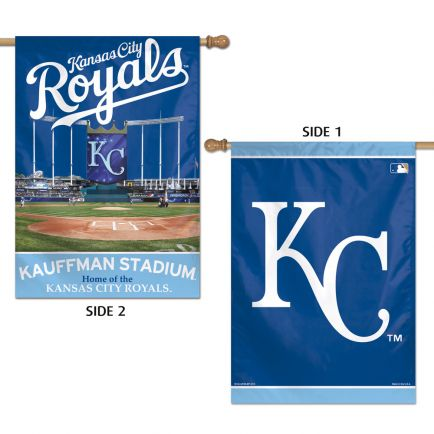 "Kansas City Royals Vertical Flag 2 Sided 28"" x 40"""