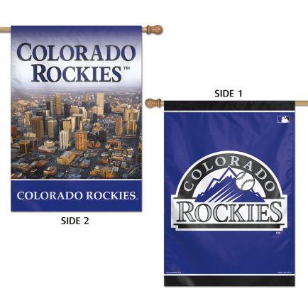"Colorado Rockies Vertical Flag 2 Sided 28"" x 40"""