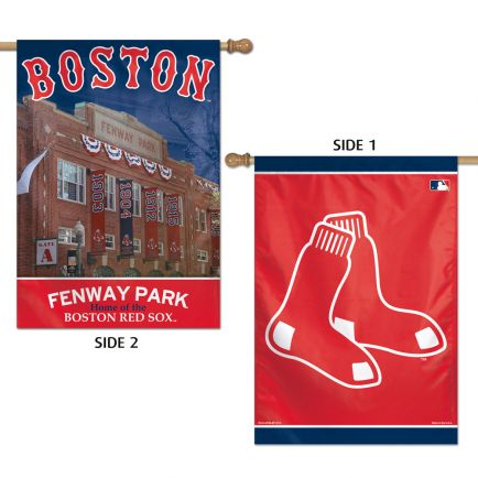 "Boston Red Sox Vertical Flag 2 Sided 28"" x 40"""