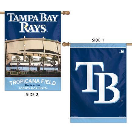 """Tampa Bay Rays Vertical Flag 2 Sided 28"""" x 40"""""""