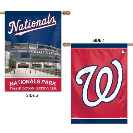 "Washington Nationals Vertical Flag 2 Sided 28"" x 40"""