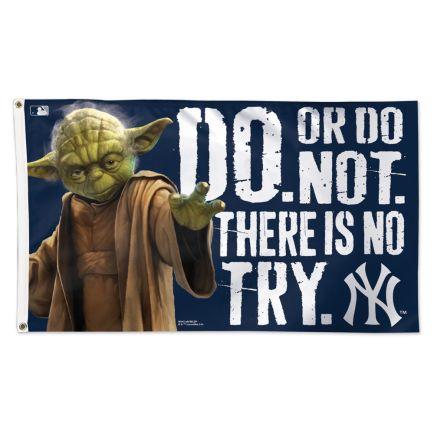 New York Yankees / Star Wars Yoda Flag - Deluxe 3' X 5'