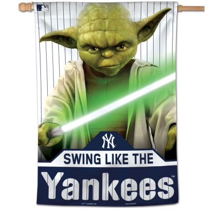 "New York Yankees / Star Wars Yoda Vertical Flag 28"" x 40"""