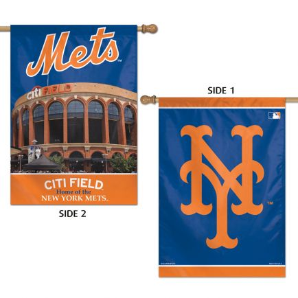 "New York Mets Vertical Flag 2 Sided 28"" x 40"""