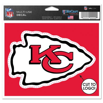 "Kansas City Chiefs Multi-Use Decal - cut to logo 5"" x 6"""