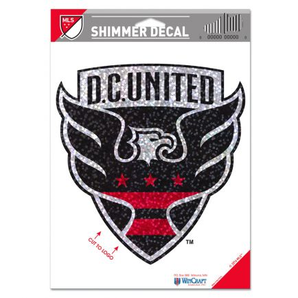 "D.C. United Shimmer Decals 5"" x 7"""