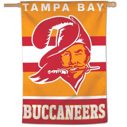 "Tampa Bay Buccaneers / Classic Logo Retro Vertical Flag 28"" x 40"""