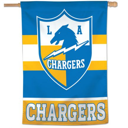 "Los Angeles Chargers / Classic Logo RETRO Vertical Flag 28"" x 40"""