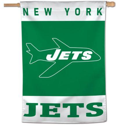 "New York Jets / Classic Logo Retro Vertical Flag 28"" x 40"""