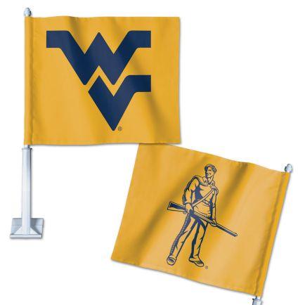 "West Virginia Mountaineers Car Flag 11.75"" x 14"""