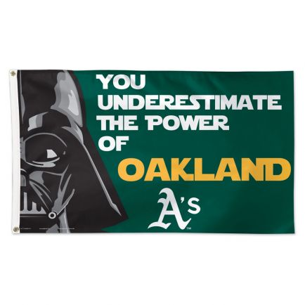 Oakland A's / Star Wars Darth Vader Flag - Deluxe 3' X 5'