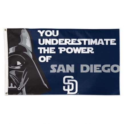 San Diego Padres / Star Wars VADER Flag - Deluxe 3' X 5'