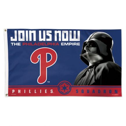 Philadelphia Phillies / Star Wars Darth Vader Flag - Deluxe 3' X 5'
