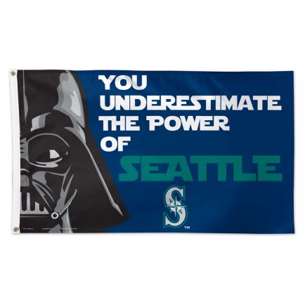 Seattle Mariners / Star Wars Darth Vader Flag - Deluxe 3' X 5'