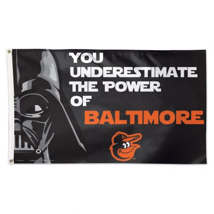 Baltimore Orioles / Star Wars Darth Vader Flag - Deluxe 3' X 5'