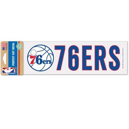 "Philadelphia 76ers Perfect Cut Decals 3"" x 10"""